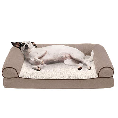 Furhaven Pet Dog Bed - Orthopedic Faux Fleece...