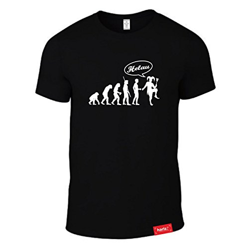 HARIZ #Karneval: Original Collection T-Shirt // 36 Designs wählbar // Schwarz, S-XXL // Fasching I Halloween I Altweiberfastnacht I Verkleidung #Karneval15: Karneval Evolution M