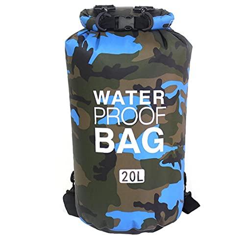 Bolso seco impermeable flotante seco Mochila Ligera Dry Sack para la playa Barco Pesca Kayaking Natación 20L azul para al aire libre de remos Bote Accesorios
