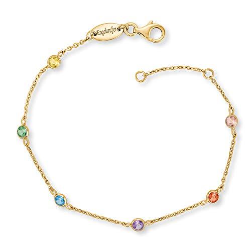 Engelsrufer - farbige Damen Armbänder Moonlight, Multicolor mit Zirkonia Edelsteinen aus 925 Sterlingsilber, funkelndes glitzer Silber Armband vergoldet