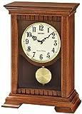Seiko de Madera con péndulo de Chimenea de/Batería de Cuarzo Reloj de Mesa o Westminster Whittington Timbre inalámbrico, Control de Volumen QXQ029B