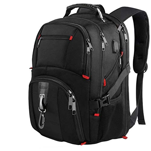 Waterproof Laptop Backpack 17.3 Inch Extra Large Shockproof 1680D USB Heavy Duty Backpack, Anti-Theft RFID Travel Work Rucksack Bag Men Women