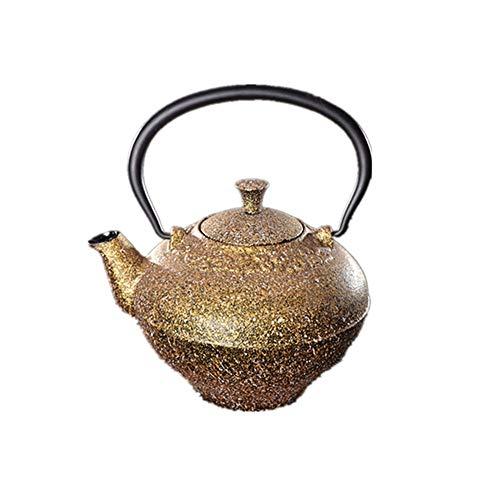 Tetera de hierro fundido Multicolor de estilo japonés del pote del té de Pu'er Pot hogar juego de té 7.5x10cm Tetera individual tetera de hierro fundido tetera de la caldera, Para té de hojas sueltas