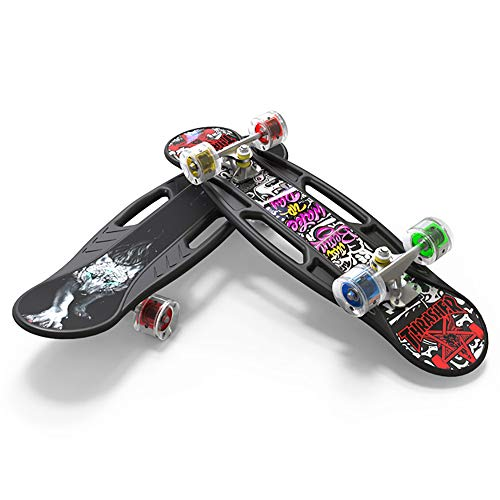 FGKING Komplett Skateboards, Leichte Skateboards mit LED-Licht-Rad, 27