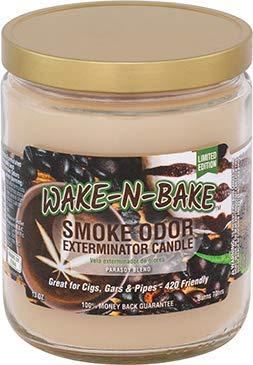 Smoke Odor Exterminator 13 oz Jar Candles Wake-N-Bake (2) Set of Two Candles.