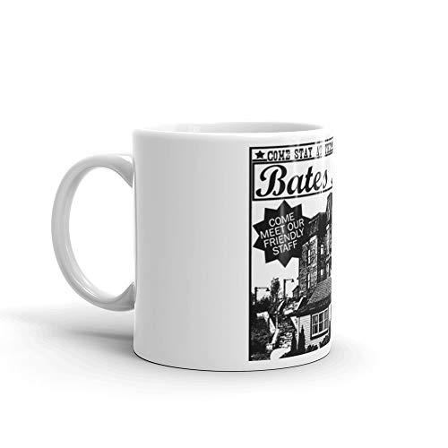 Bates Motel - Black Type. 11 Oz Classic Coffee Mugs, C-handle And Ceramic Construction. 11 Oz Ceramic Coffee Mugs With C-shape Handle, Comfortable To Hold
