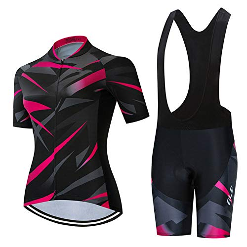 GET Conjunto de Maillot de Ciclismo para Mujer, Camisa de Manga Corta...