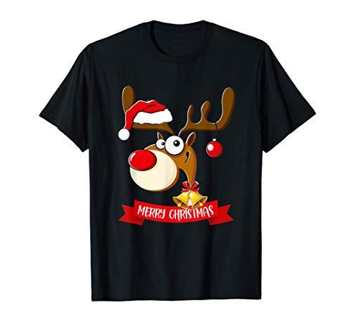 Feliz Reno El Traje De Navidad Familia Niños Navidad Camiseta