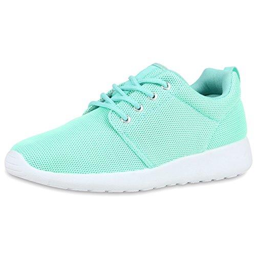 SCARPE VITA Damen Sportschuhe Trendfarben Runners Sneakers Laufschuhe 160471 Hellgrün 39