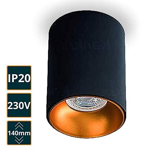 Deckenspotleuchte RITI LED Deckenaufbauleuchte (RITI schwarz-gold)