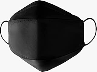 RESPIRA Premium 4-Ply Face Protective Mask: Black, Provides Extra Protection Against Pollution, Smog, Dust and Bacteria, 1...