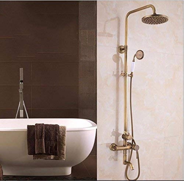 GFF Dusche Dusche Antik Duschset Basis Kupfer Retro Badezimmer Dusche Handbrause Dusche Mischbatterie