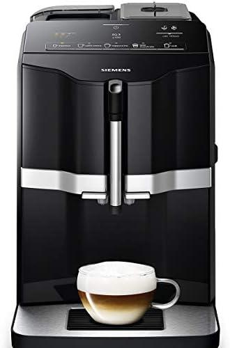 Siemens EQ.300 TI351209RW – Machine à café tout automatique – Permet de préparer deux tasses simultanément – iAroma System – Couleur : Noir
