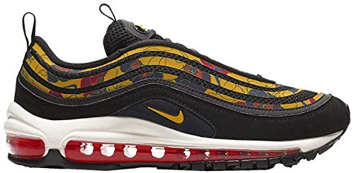 Nike Damen W Air Max 97 Se Leichtathletikschuhe, Mehrfarbig (Black/University Gold/Sail 1), 36 EU