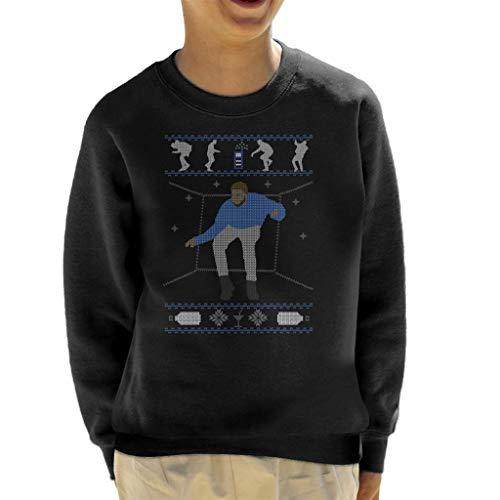 Cloud City 7 Hotline Bling Drake Dancing Christmas Knit Pattern Kid's Sweatshirt