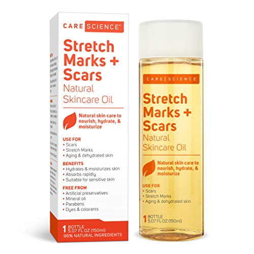 Care Science Stretch Marks + Scars Oil, 150 ml | For Scars, Stretch Marks, Aging & Dehydrated skin | Natural Ingredients. Vitamin E Oil, Avocado Oil, Olive Oil, Coconut Oil, More