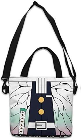 Tomioka Anime Shopping Bag Girl Black Canvas Bag Shoulder Bag One Shoulder Handbag Canvas Fans Bag