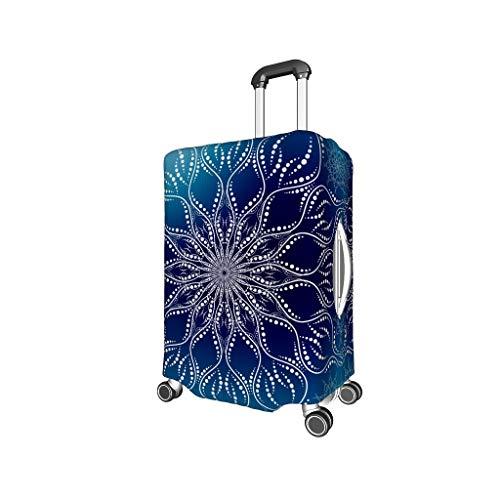 Lind88 Gradation Blue Mandala Fundas de Viaje para Maletas - Moderno y de Varios tamaños para la mayoría de Maletas, Blanco (Blanco) - Lind88-scc