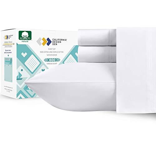California Design Den Authentic Soft 800 Thread Count 100% Cotton...