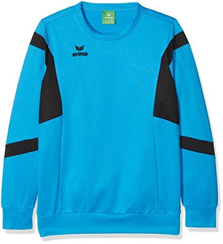Erima Kinder Classic Team Sweatshirt, Curacao/Schwarz, 140