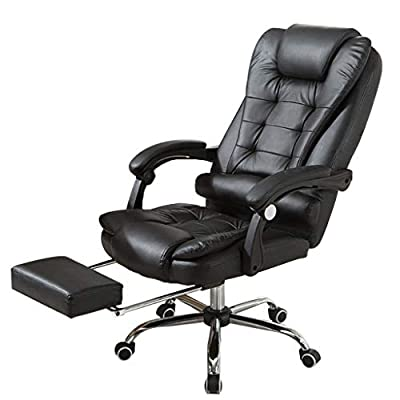 Amazon - Save 80%: High Back Massage Office Chair with USB-Powered Massager Reclining Back a…