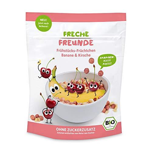 """Freche Freunde Bio Frühstücks-Früchtchen """"Banane & Kirsche"""", ohne Zuckerzusatz, vegan, Bio Corn-Flakes für Kinder & Babys ab 1 Jahr, 6er Pack (6 x 125 g)"""