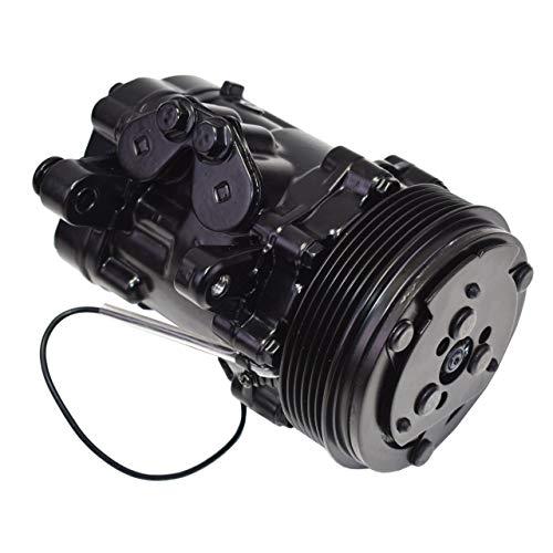 A-Team Performance HC5005BK A/C Compressor Sanden SD-7 Type 6-Groove Serpentine Aluminum Housing Black