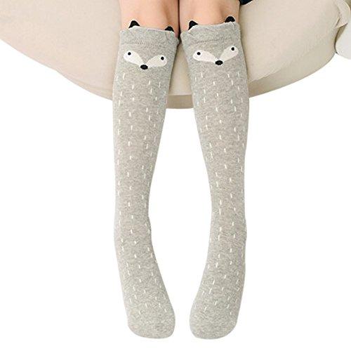 TININNA Chaussettes Hautes Genou Enfant Crochet Coton Animaux Longue Bébé Fille Leg Warmer Sock Leggings 2