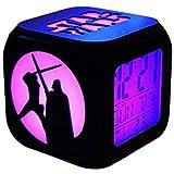 NL Stéréo Réveils Star Wars 3D Réveil Muet LED Veilleuse électronique Seven Color...