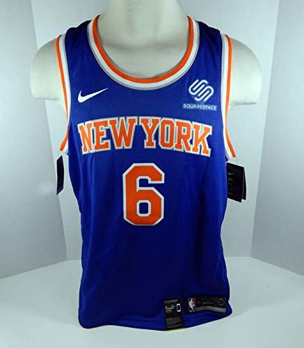 Mens New York Knicks Kristaps Porzingis #6 Blue Jersey Swingman M Nike