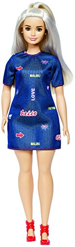 Barbie- Fashionistas Platinum Pop Curvy Bambola, Multicolore, DYY93