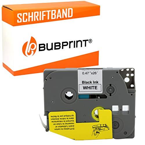 Bubprint kompatibles Schriftband als Ersatz für Brother TZE-231 TZE231 TZ231 12mm für H100lb H100r H101 H101c H105 PT-1010 Ptouch pt d400vp (Schwarz auf Weiß)