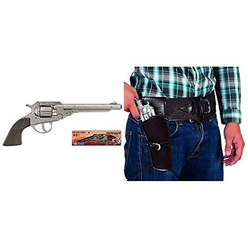 Gonher 88/0 - 8-Sch Revolver Cowboy 28 cm & Boland 579 - Cowboyset, Halfter und Gürtel, 110 cm