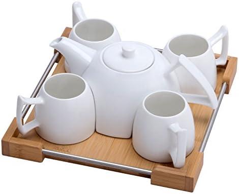 Mini Porcelain Tea Set Ceramic Teapot Coffee Cup Set for Drinking Tea Latte Espresso Water including product image