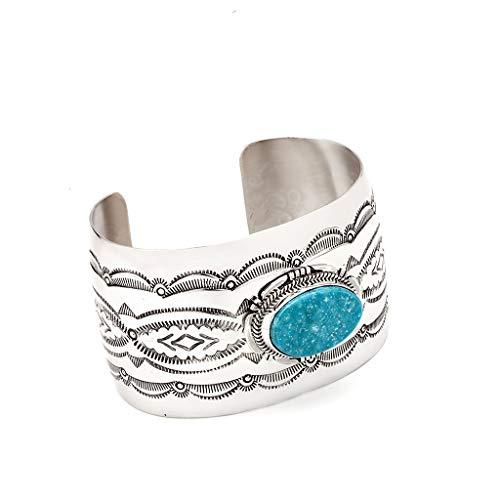 Navajo Türkis Armreif Sterling Silber Indianerschmuck Westernschmuck SN020