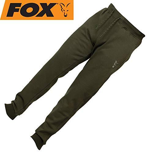 Fox Collection Green Silver Jogger - Angelhose, Hose für Angler, Jogginghose für Karpfenangler, Anglerhose, Größe:XL