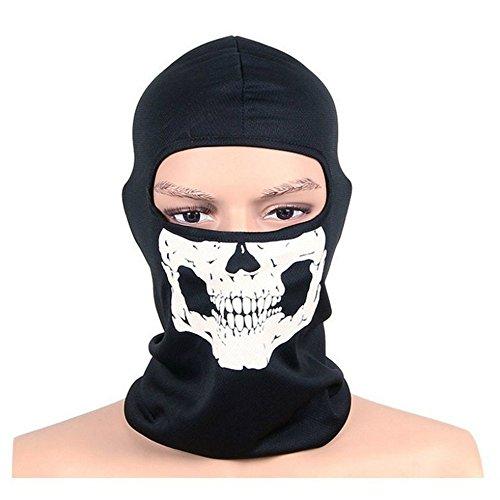 ZiNingBel - Máscara de Esqueleto con diseño de Calavera de Fantasma, para Cosplay, táctica, Cosplay o Militar, con Capucha, para Motocicleta, Halloween, con Forma de envío aleatoria