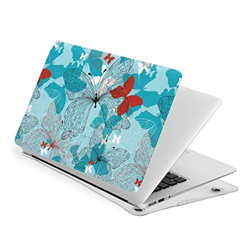 MacBook Pro 13 Inch Case Floral Pattern with Butterfly Hard Laptop Shell Case Cute Protective Laptop Cover