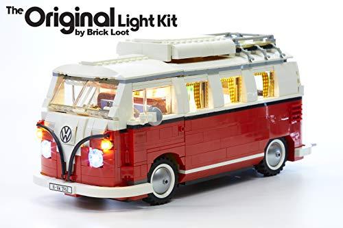 Brick Loot Deluxe LED Light Kit for Your Lego Volkswagen T1 Camper Van Set 10220 (Note: Model is NOT Included)