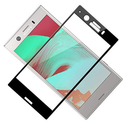 TOCYORIC Verre Trempé pour Sony Xperia XZ1 Compact, 3D Incurvé Couverture Complète Film Protection écran Sony Xperia XZ1 Compact, 9H Dureté, Anti Rayures, Installation Facile, sans Bulles [2 Pièces]