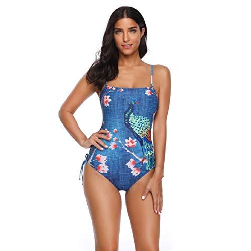 Dames badmode shaping effect badpak slank badpak eendelig badpak figuur vormend badmode strandmode vouwen monokini verstelbare schouderriem swimsuit