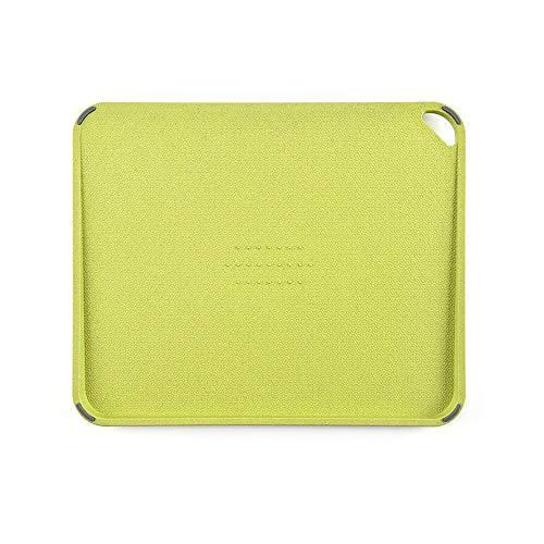 Buchklassiker Planche de Cuisine 27,7 x 33,8 x 1,5 cm, sans BPA, Planche à découper, Lavable au Lave-Vaisselle, paroi de jus, Compatible avec Les Couteaux, antidérapante, Planche à découper (Vert)