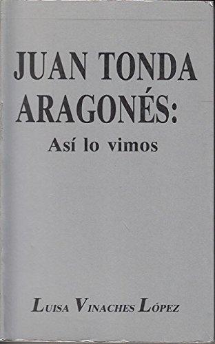 JUAN TONDA ARAGONES: Así lo vimos