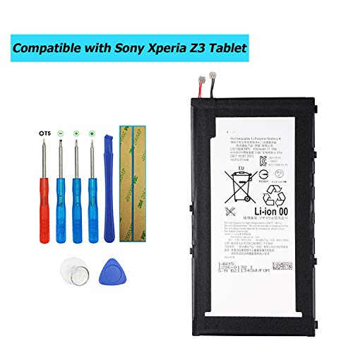 Upplus LIS1569ERPC - Batteria di Ricambio per Sony Xperia Z3 Tablet Xperia Tablet Z3 Compact SGP611 SGP612 SGP621 SGP641 SOT22 1286-0138 1ICP3/77/149 1286-0138 con Kit di Attrezzi