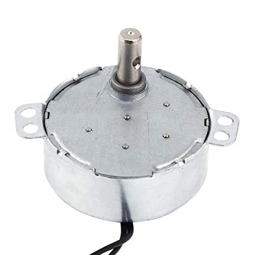 Motor síncrono Mini tamaño Motor de microondas AC Motor síncrono Motor de engranajes Motor giratorio 4W CW/CCW 220-240V(5-6RPM)