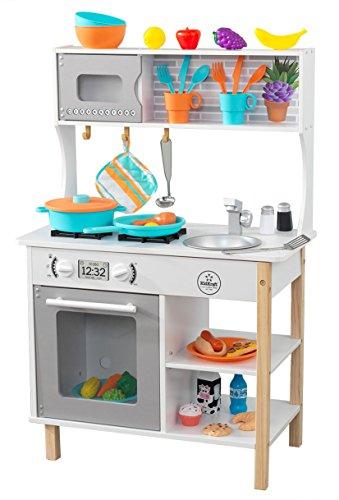 Kidkraft 53370 All Time - Cucina Giocattolo, in Legno, con Accessori Inclusi, per Bambini