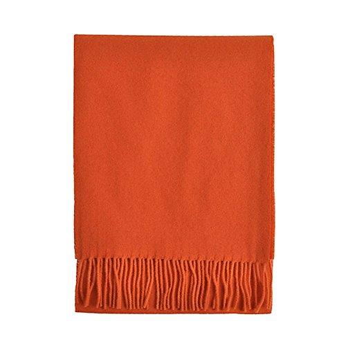 TOUTACOO, Schal Wolle, Wollschal - Damen & Herren - Hergestellt in Frankreich 14-Orange