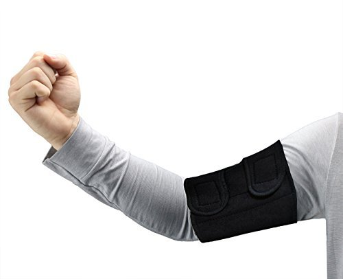 ObboMed MB-1830M Upper Arm Support Brace, Elbow Sleeve with Magnets. Support for Tennis and Golfer's Elbow, Workouts, Tendonitis, Arthritis (M: fit 12-13 inches / 30.5-33.0 cm arm)