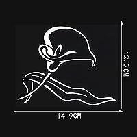 ZDXZC 14.9cmx12.5cm植物花デカール車のステッカーブラック/シルバービニール (Color Name : Silver)