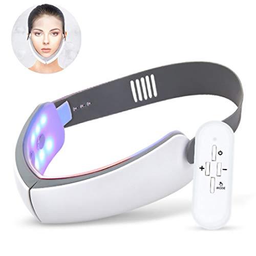 GL SUIT New Electric V Mise en Forme du Visage Massager Double Menton Face Lifting Instrument Rouge Blu-Ray Instrument de beauté Soins de la Peau de Serrage Lifting Ceinture